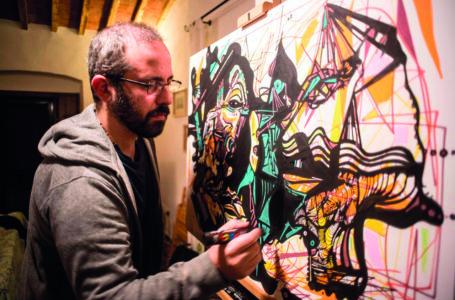 Alessandro De Berti, la musica incontra la pittura
